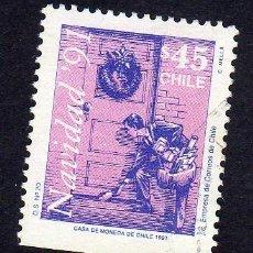 Sellos: AMÉRICA. CHILE. NAVIDAD DEL 91. YT 1082A. USADO SIN CHARNELA. Lote 238173235