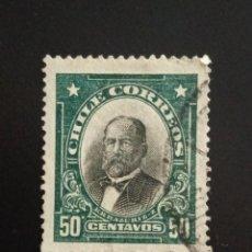 Sellos: CHILE 50 CENTS ERRAZURIZ AÑO 1911.. Lote 243083075