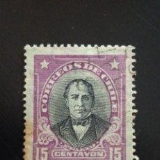Sellos: CHILE 15 CENTAVOS PRIETO, AÑO 1917... Lote 243088485