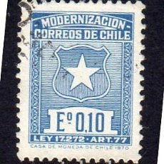 Timbres: AMÉRICA. CHILE. MODERNIZACIÓN POSTAL YT345A USADO SIN CHARNELA. Lote 251280085