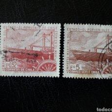 Sellos: CHILE YVERT 359 + A-272 SERIE COMPLETA USADA 1971 MARINA MERCANTE BARCOS. TIMÓN PEDIDO MÍNIMO 3€. Lote 263053745