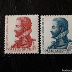 Sellos: CHILE YVERT 376 + A-277 SERIE COMPLETA NUEVA *** 1972 POESÍA ALONSO DE ERCILLA. PEDIDO MÍNIMO 3 €. Lote 263056850