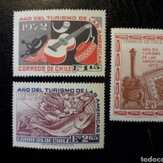 Sellos: CHILE YVERT 392/4 SERIE COMPLETA NUEVA *** 1972 AÑO DEL TURISMO. PEDIDO MÍNIMO 3€. Lote 263061125