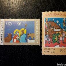 Sellos: CHILE YVERT 610/11 SERIE COMPLETA NUEVA *** 1982 NAVIDAD. DIBUJOS INFANTILES MÍNIMO 3€. Lote 263067825