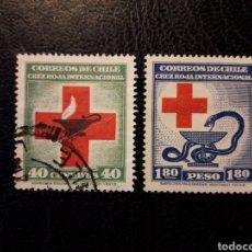 Sellos: CHILE YVERT 210/1 SERIE COMPLETA USADA 1944-45 CRUZ ROJA PEDIDO MÍNIMO 3 €. Lote 263071775