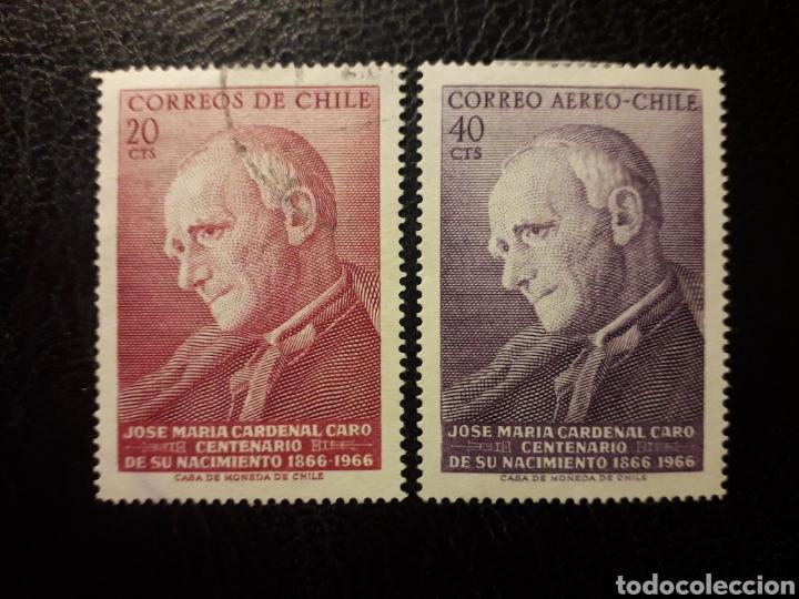 CHILE Y 322 + A-243 SERIE CTA USADA Y NUEVA CON CHARNELA 1967 CARDENAL J.M. CARO. PEDIDO MÍNIMO 3€ (Sellos - Extranjero - América - Chile)