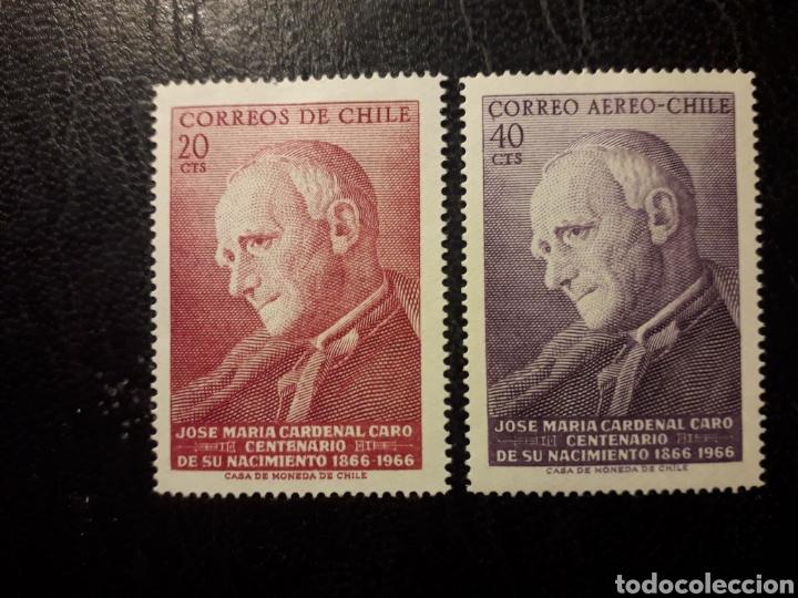 CHILE YVERT 322 + A-243 SERIE COMPLETA NUEVA CON CHARNELA 1967 CARDENAL J.M. CARO. PEDIDO MÍNIMO 3€ (Sellos - Extranjero - América - Chile)