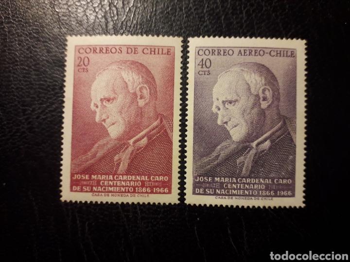 CHILE YVERT 322 + A-243 SERIE COMPLETA NUEVA *** 1967 CARDENAL J.M. CARO. PEDIDO MÍNIMO 3€ (Sellos - Extranjero - América - Chile)
