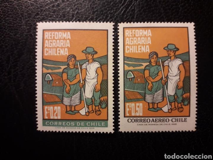 CHILE YVERT 325 + A-246 SERIE COMPLETA NUEVA *** 1968 AGRICULTURA. REFORMA AGRARIA PEDIDO MÍNIMO 3€ (Sellos - Extranjero - América - Chile)