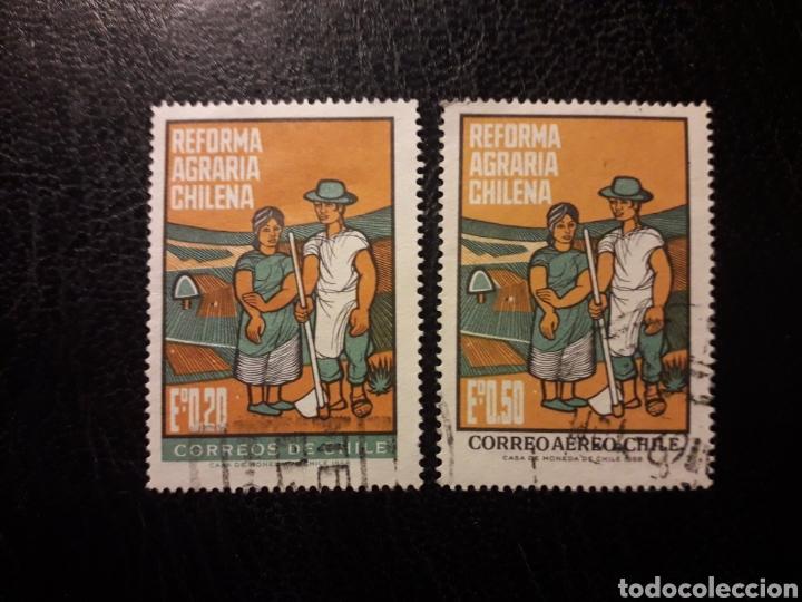 CHILE YVERT 325 + A-246 SERIE COMPLETA USADA 1968 AGRICULTURA. REFORMA AGRARIA PEDIDO MÍNIMO 3€ (Sellos - Extranjero - América - Chile)