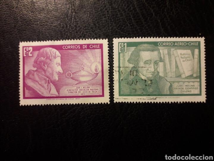 CHILE YVERT 326 + A-247 SERIE COMPLETA USADA 1968 JUAN I. MOLINA. JESUÍTA. PEDADOGO PEDIDO MÍNIMO 3€ (Sellos - Extranjero - América - Chile)