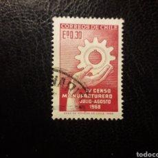 Sellos: CHILE YVERT 328 SERIE COMPLETA USADA 1968 CENSO MANOFACTURERO. MANOS. PEDIDO MÍNIMO 3€. Lote 263812395