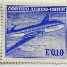 Sellos: SELLO DE CHILE 0,10 E - 1967 - AVION - NUEVO SIN SEÑAL DE FIJASELLOS. Lote 268309714