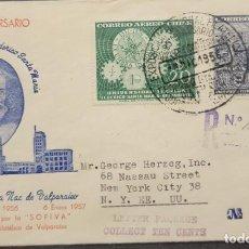 Sellos: O) 1956 CHILE, FEDERICO SANTA MARIA, DEPARTAMENTOS UNIVERSITARIOS DE SIMBOLOS, VISTA DE LA UNIVERSID. Lote 276758828