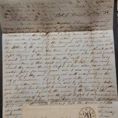 Sellos: O) 1856 CHILE, PRESTAMP. PREFILATÉLICO, STEAMSHIP 20 EN NEGRO, CARTA COMPLETA, TRANSCRIPCIÓN, TIEMPO. Lote 276760408