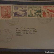 Sellos: O) 1951 CHILE, FRANCISCO A PINTO, PRESIDENTE REACCIÓN CONSERVADORA, TREN Y AVIÓN, OIL DERRICKS, DOUG. Lote 287949733