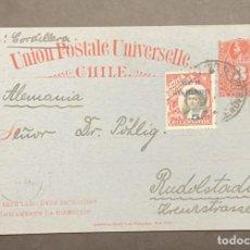 Sellos: O) 1910 CHILE, ISLAS DE JUAN FERNANDEZ, VIA CORDILLERA, COLUMBUS 5C EN AZUL, CHRISTOPHER COLUMBUS 3C. Lote 287957453