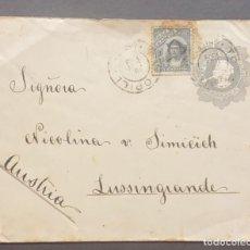 Sellos: O) 1909 CHILE, COLUMBUS 10C, CRISTOPHER COLUMBUS, 5C PAPELERIA POSTAL, CIRCULAR A AUSTRIA, XF. Lote 287964243