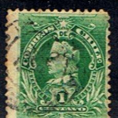 Sellos: CHILE // YVERT 42 // 1901-02 ... USADO. Lote 288558053