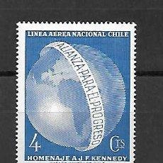 Sellos: HOMENAJE A J.F. KENNEDY. CHILE. SELLO AÑO 1963. Lote 289669448