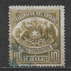 Sellos: CHILE SELLO TELEGRAFOS - 1/12. Lote 293444708