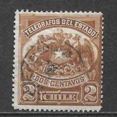 Sellos: CHILE SELLO TELEGRAFOS - 1/12. Lote 293444733