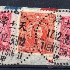 Sellos: CHINA,1936, OCUPACION JAPONESA, MARCA DE TIENTSIN, PRECIOSO. Lote 36798121