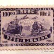 Sellos: SELLOS CHINA 1946. NUEVO. NO ENGOMADO. MEDIOS DE TRANSPORTE.. Lote 47641896