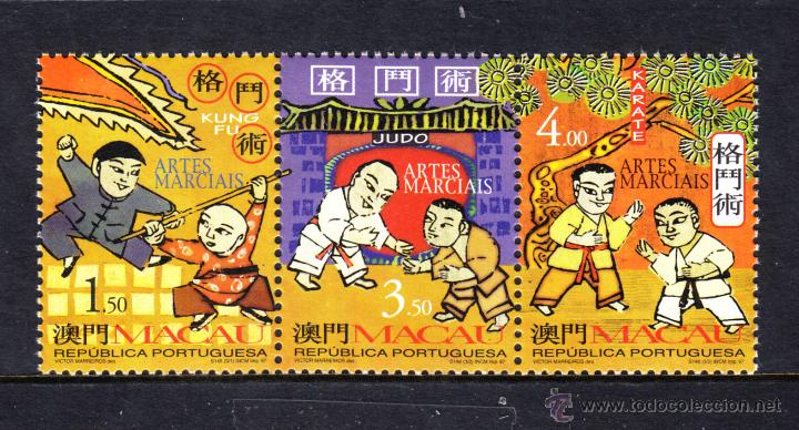 MACAO 885/87** - AÑO 1997 - ARTES MARCIALES (Sellos - Extranjero - Asia - China)