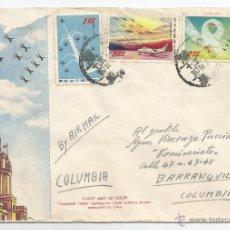 Sellos: 1960 - CORREO AÉREO PRIMER DÍA DE CIRCULACIÓN CHUNGLI - CHINA. Lote 51225679
