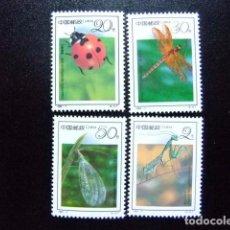 Sellos: CHINA CHINE 1993 FAUNA INSECTOS YVERT Nº 3117 / 3120 ** MNH. Lote 74479755