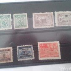 Sellos: FICHA CON 7 SELLOS DE CHINA.. Lote 94039795