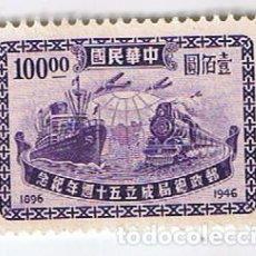 Sellos: SELLO CHINA DEL ESTE YVERT 596. ANIVERSARIO SERVICIO POSTAL AÑO 1947. Lote 110034319