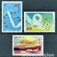 Selos: CHINA,FORMOSA,TAIWAN,1960,AVIACIÓN,NUEVOS CON HUELLA DE CHARNELA,YVERT 7-9 AÉREOS. Lote 128843424