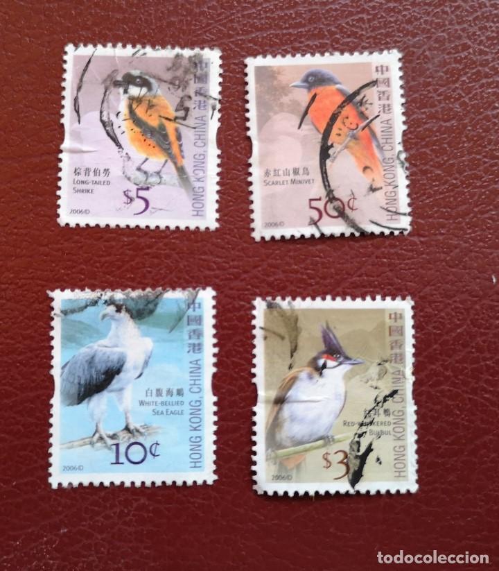 4 SELLOS USADOS DE HONG KONG,CHINA ** TEMA AVES - AÑO 2006 (Sellos - Extranjero - Asia - China)