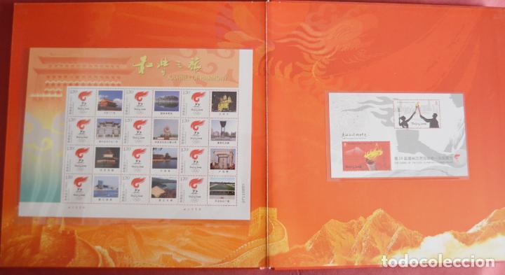 Sellos: OLIMPIADAS DE PEKIN 2008 - BEIJING - LIBRO CON SELLOS NUEVOS - SELLOS HOJAS Y SOBRE PRIMER DÍA - Foto 5 - 135567834