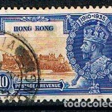 Sellos: CHINA, HONG KONG Nº 133, 25 ANIVERSARIO DEL REINADO DE GEORGE V (REY DE INGLATERRA), USADO. Lote 144012022