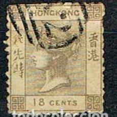 Sellos: CHINA, HONG KONG Nº 4, LA REINA VICTORIA DE INGLATERRA, USADO. Lote 144012202