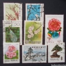 Briefmarken - China flora lote de sellos usados - 153948306