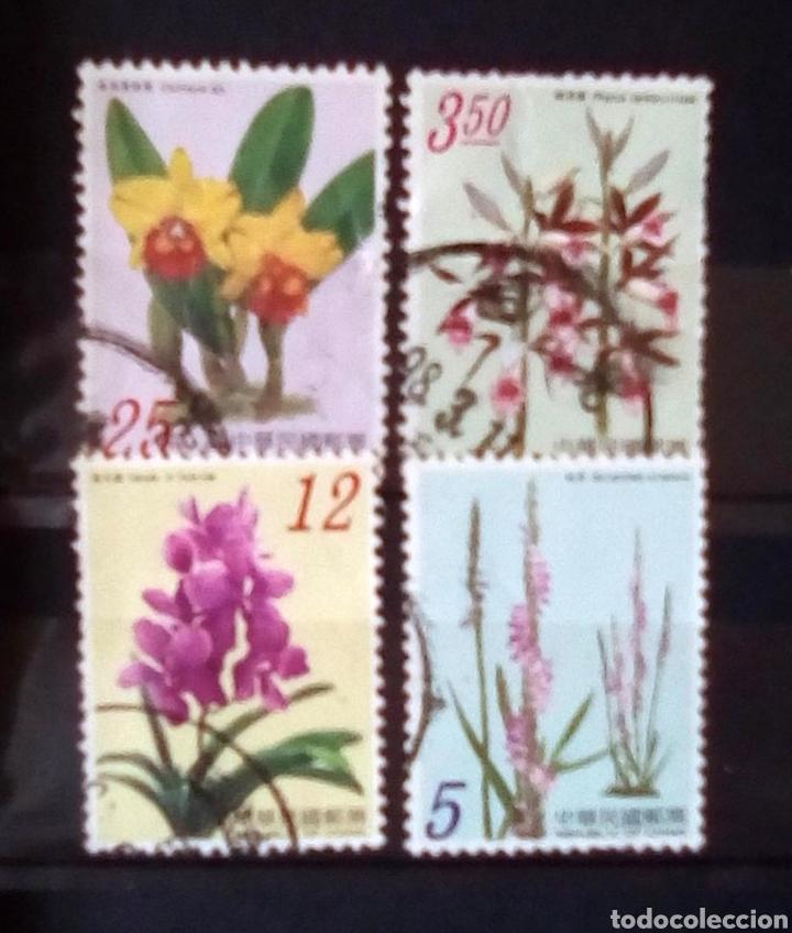 CHINA FLORES SERIE DE SELLOS USADOS (Briefmarken - Internationale - Asien - China)