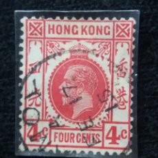 Sellos: SELLO, CHINA HONG KONG, 4 CENTS, REY EDUARD VII, AÑO 1907 , SIN USAR.. Lote 172789208