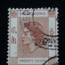 Sellos: SELLO, CHINA HONG KONG, TWENTY CENTS, REINA ELIZABETH II, AÑO 1945 , SIN USAR.. Lote 172789778