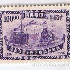 Sellos: CHINA REPÚBLICA 1946 ANIVERSARIO SERVICIO POSTAL. SELLO ANTIGUO. Lote 191789116