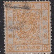 Sellos: CHINA, 1878 YVERT Nº 3, DRAGÓN. Lote 212098566