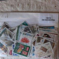 Sellos: CHINA GRAN LOTE 300 SELLOS USADOS DIFERENTES. Lote 212367008