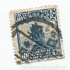 Sellos: SELLO USADO DE CHINA IMPERIAL DE 1923- JUNCO,PERLAS BLANCAS EN LA PARTE SUPERIOR- YVERT 190. Lote 244902850