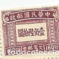 Sellos: SELLO USADO DE CHINA IMPERIAL DE 1947- FRANQUEO DEBIDO- YVERT 78- VALOR 160 DOLAR CHINO. Lote 245464985