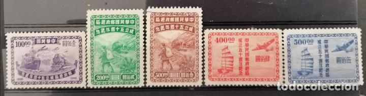 1947.CHINA, 50º ANIV, CORREO NACIONAL,TRANSPORTE DEL CORREO .**.MNH ( 21-387) (Sellos - Extranjero - Asia - China)