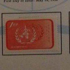 Sellos: O) 1958 CHINA, ORGANIZACIÓN MUNDIAL DE LA SALUD. OMS, SCT 1193-1195, XF. Lote 263093205