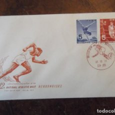 "Sellos: SELLO DE CHINA 1957 EN SOBRE CONMEMORATIVO JUEGOS OLÍMPICOS "" FOOTBALL AMERICANO "" EN MATASELLOS. Lote 265326339"